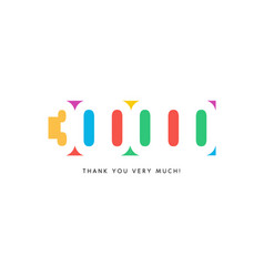 three hundred thousand subscribers baner colorful vector image