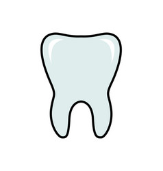 tooth line flat icon dental vector image