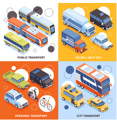 transport isometric design concept vector image