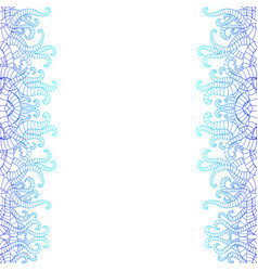 vertical decorative doodle seamlesspattern in vector image