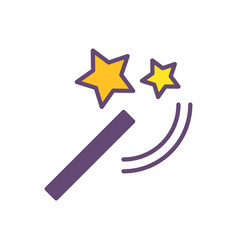 wand magic logo icon design vector image