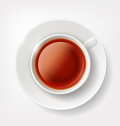 White cup of tea vector