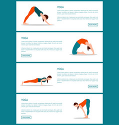 Yoga web pages collection vector