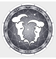 Zodiac sign Gemini vector