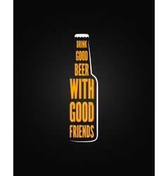 beer bottle design background vector image vector image