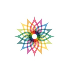 Colorful abstract icon vector image vector image
