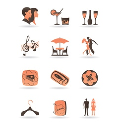 Confectionery restaurant and club icons vector image