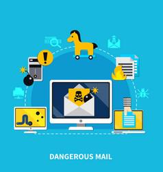 Dangerous mail design concept vector