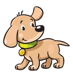 Funny puppy vector image