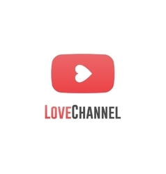Love channel logo online TV concept vector image