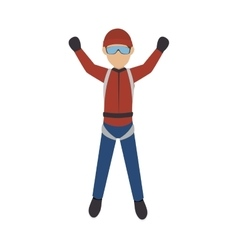 parachutist man falling vector image vector image