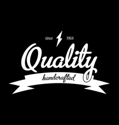 Quality handcrafted emblem poster vector