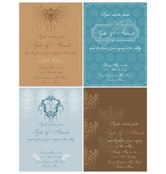Set of Beautiful Vintage Cards vector image vector image