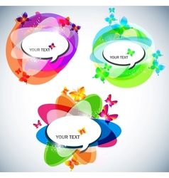 abstract bubbles for speech vector image vector image