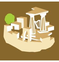 Ancient ruins vector image
