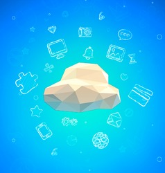 Cloud Lowpoly vector image vector image