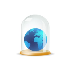 Earth covered with a glass cover vector image