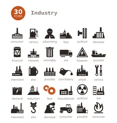 Industrial icons9 vector image vector image