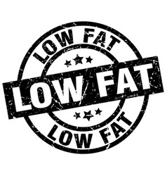low fat round grunge black stamp vector image vector image