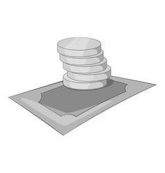 Money cash icon gray monochrome style vector image vector image