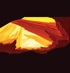 background of fantastic mountain landscape vector image