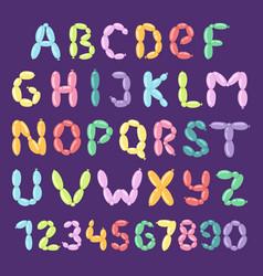 balloon alphabet set cartoon style vector image