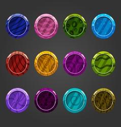 Cartoon shiny bubbles-2 vector image