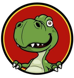 Dinosaur sign vector image vector image