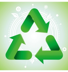ecology concept - recycle sign vector image vector image