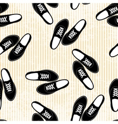 Seamless sneakers background pattern vector image vector image
