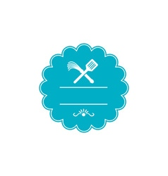 Spatula Flogger Whip Crossed Rosette Retro vector image