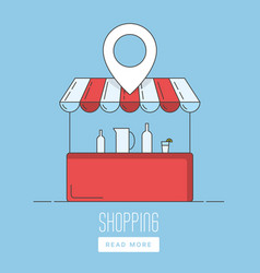 supermarket location icon vector image