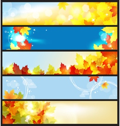 autumn days vector image vector image