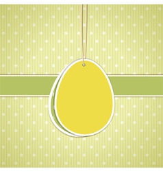Easter label background vector image vector image