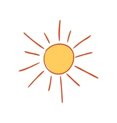 Hand-drawn sun vector image vector image