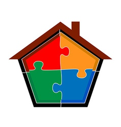 puzzle home vector image