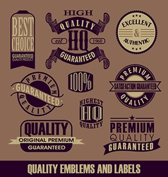 Set of Label vector image vector image