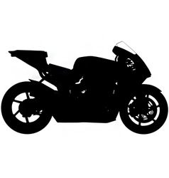 sports motorbike silhouette vector image