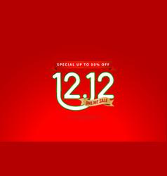 1212 sale online sale shopping day fest vector