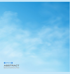 abstract of blue sky with clouds background vector image