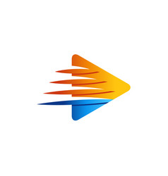 Abstract speed arrow triangle logo symbol icon vector