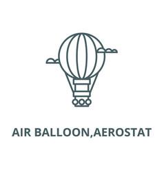Air balloonaerostat line icon air vector