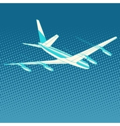 Airplane flight travel tourism vector