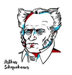 arthur schopenhauer portrait vector image