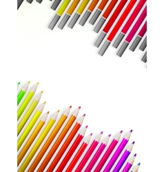 Back to school with multicolored pensils EPS10 vector image