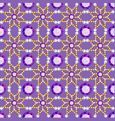 Background seamless with pattern and gems vector