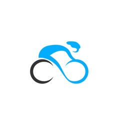 bicycle bike logo vector image
