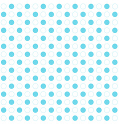 Blue polka dots seamless pattern on white vector