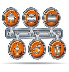 Button icons for website6 vector