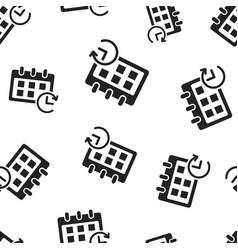 Calendar reminder seamless pattern background vector